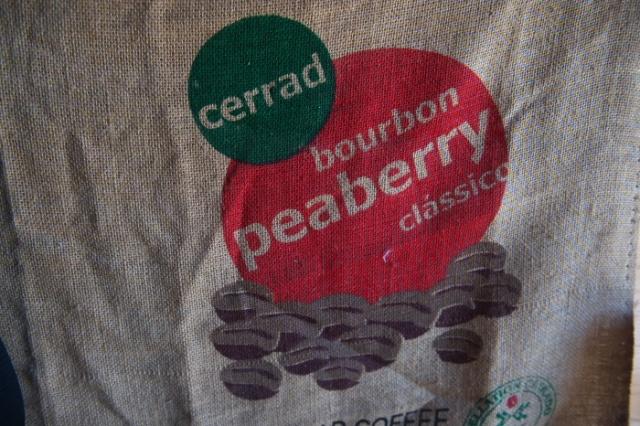 Cerrad bourbon Peaberry の麻袋-02