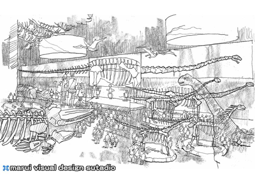 2015恐竜博・イメージスケッチ