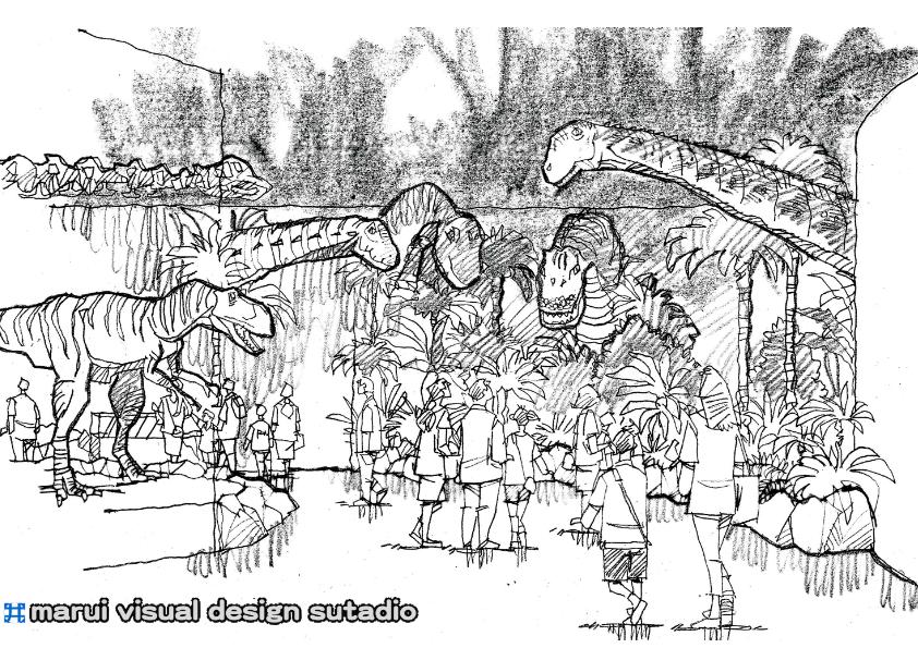2012恐竜博・イメージスケッチ8