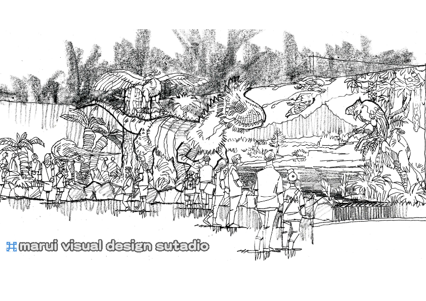 2012恐竜博・イメージスケッチ9