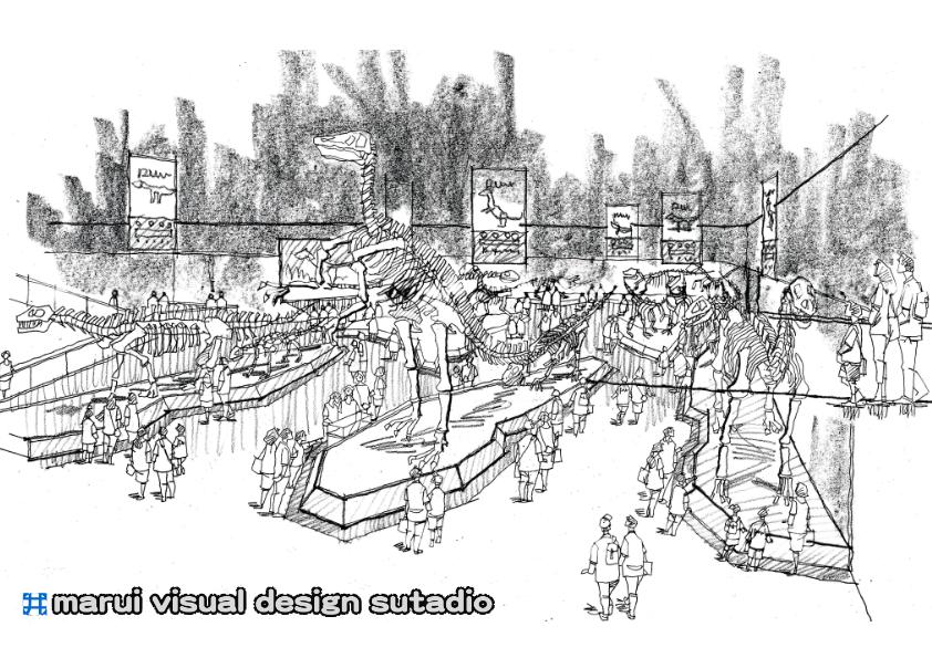2012恐竜博・イメージスケッチ10