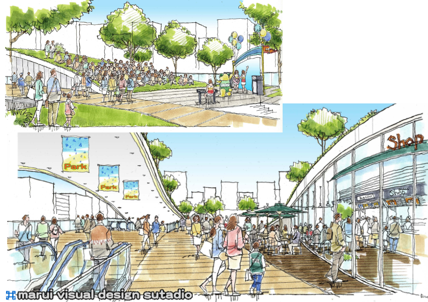 渋谷宮下公園跡地計画・イメージパース