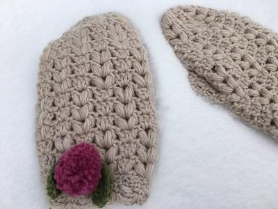 20161214 真冬の果実 かぎ針編み手袋