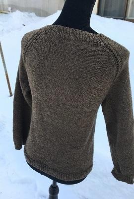 20170112 top-downセーター 編んでdonut