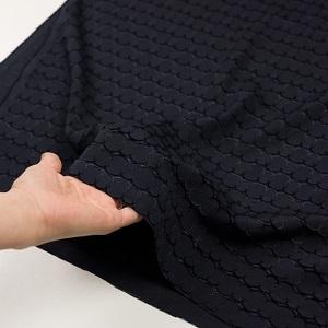 fab-fabric sewing studioポリエステル&レーヨン混×サークル(ダークネイビー)×ボイルカットジャガード