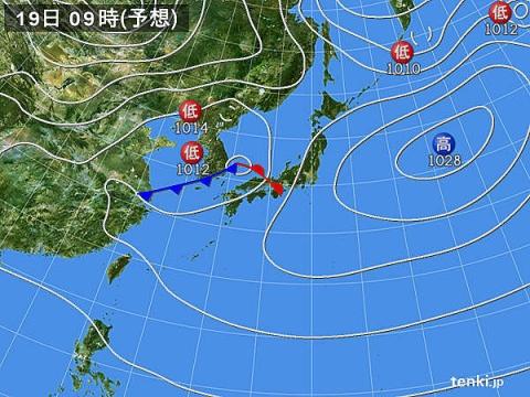 天気図19日