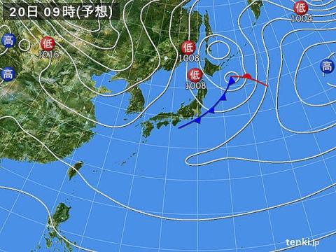 天気図20日