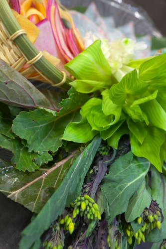 春野菜のしゃぶしゃぶ
