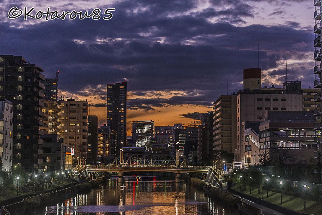 運河の街の夕暮れ 20161216