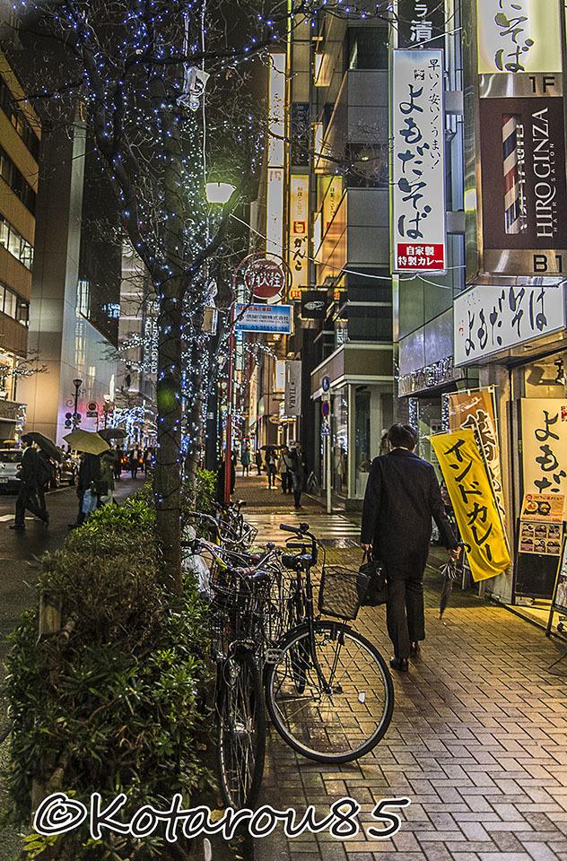 雨の松屋通り3 20161223