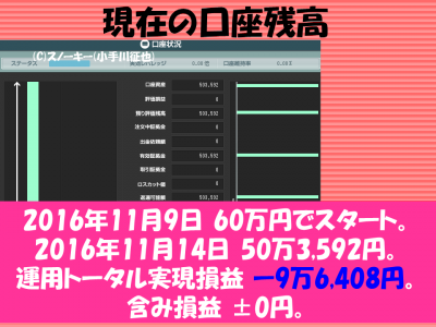 20161114【リアル】ループ・イフダン検証口座残高