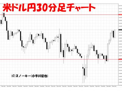 20161205イタリア・ショック米ドル円30分足