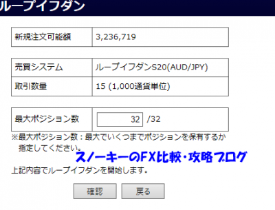 20161209ループ・イフダンデモ口座豪ドル円ショート