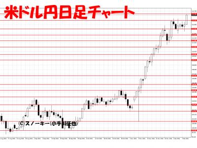20161210米ドル円日足