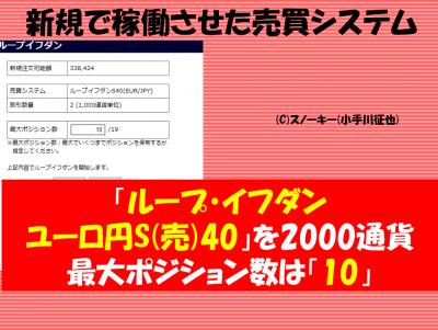 20161120【リアル】ループ・イフダン検証ユーロ円S40