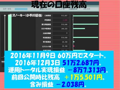 20161203【リアル】ループ・イフダン検証口座残高