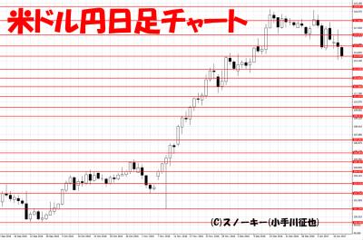 20170112トラッキングトレード検証米ドル円日足