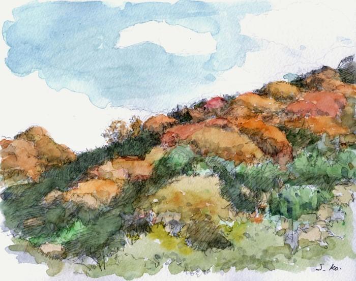 秋の山並み (700x553)