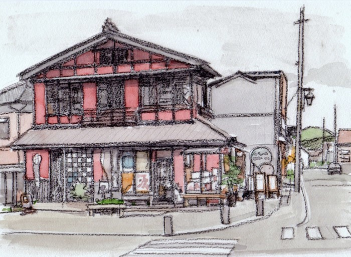 弥彦山登山口の土産店 (700x513)