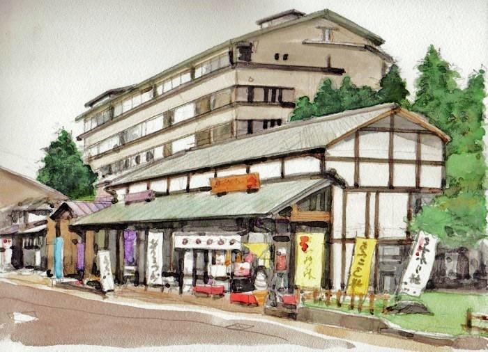 弥彦山登山口の風景 (700x506)