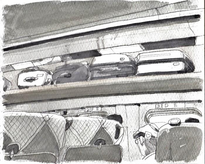 旅の車中 グリザイユ (700x559)