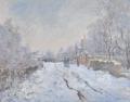 クロード・モネ 「雪のアージャントゥィユ」