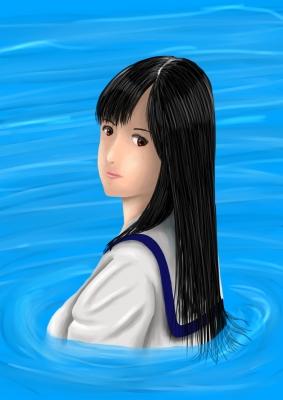 水の中の少女2