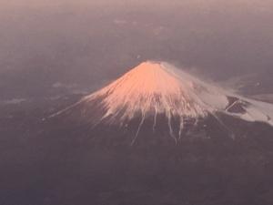 富士山夕日