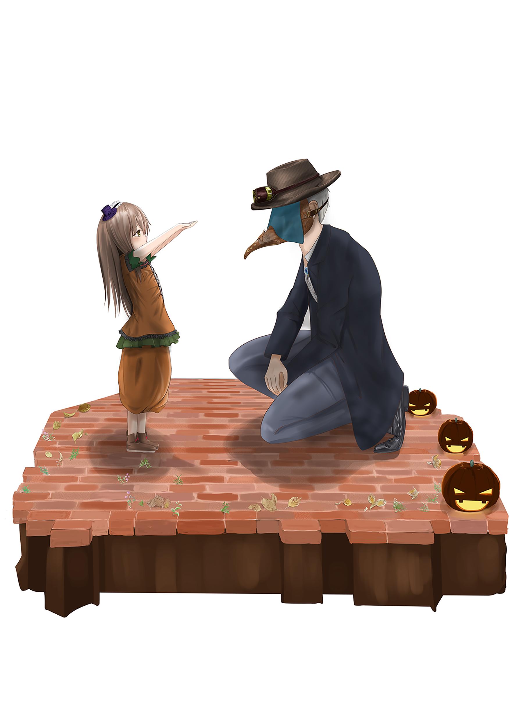 ペストマスクと幼女