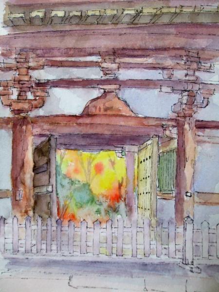 A久安寺門