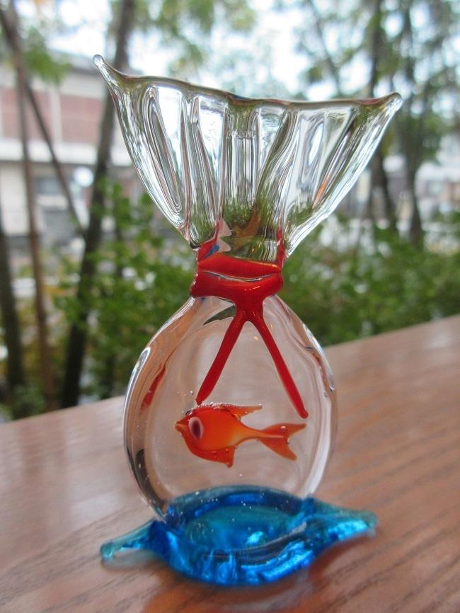 ヴェネチアンガラスの金魚