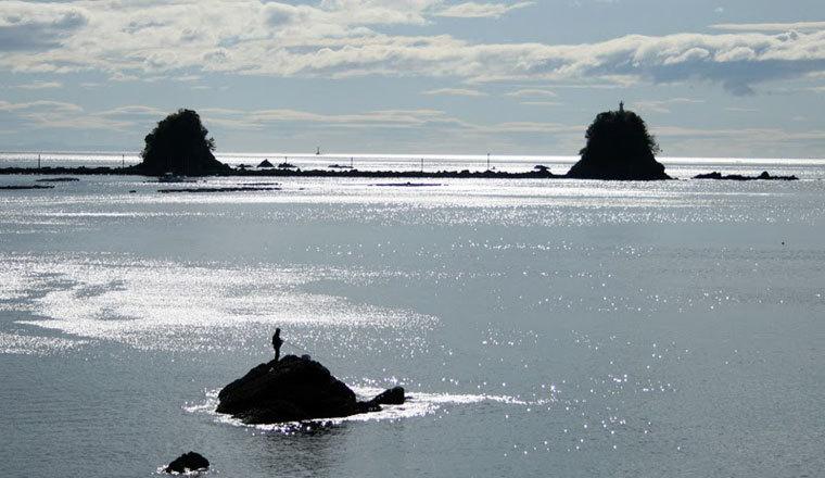 双名島釣り人