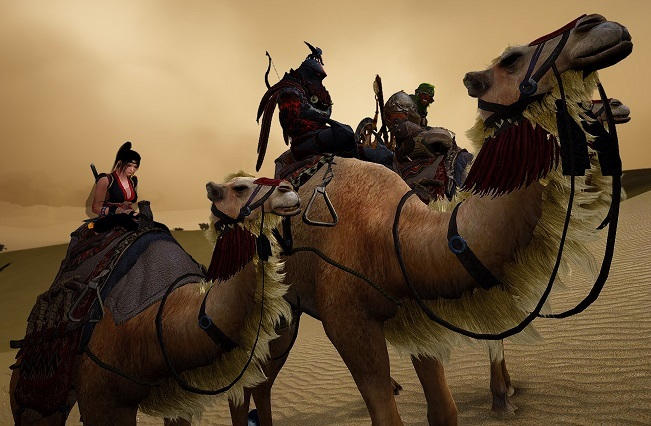 砂漠を横断