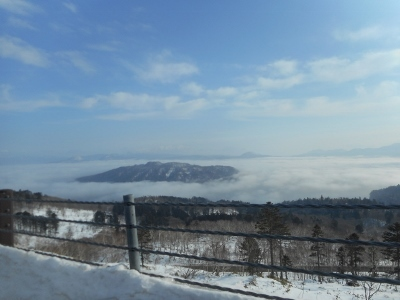 霧に覆われた屈斜路湖