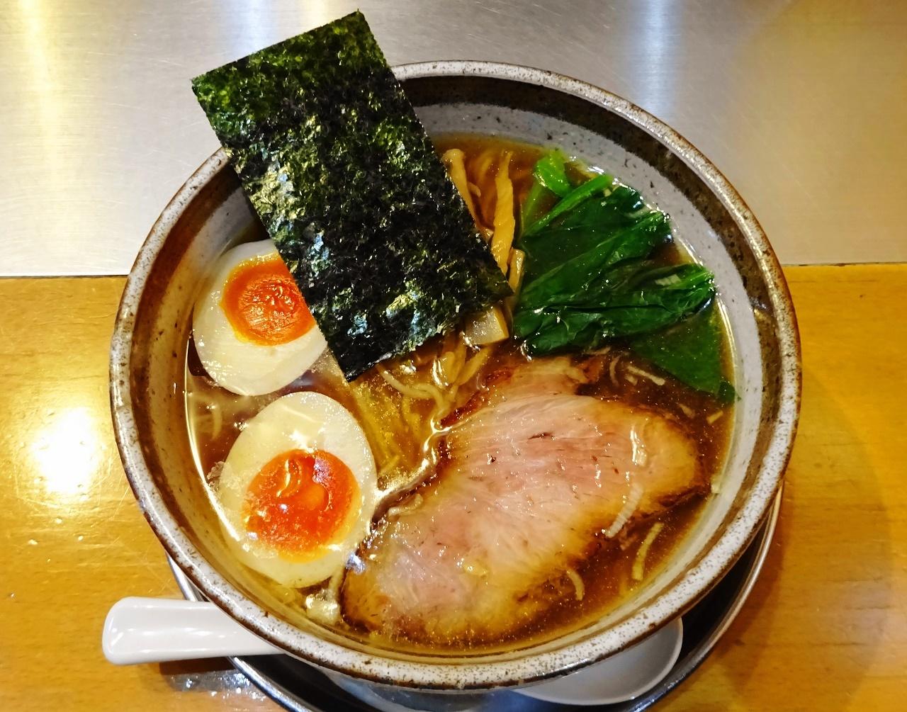 才蔵 鶏味玉そば(正油)