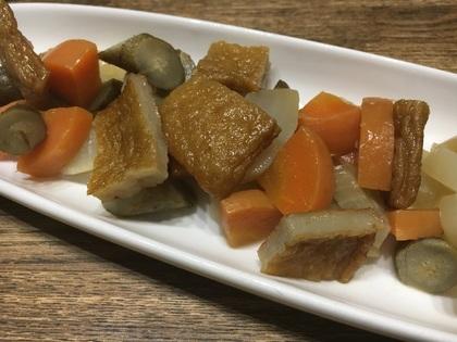 薩摩揚げと根菜の煮物