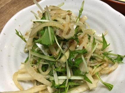大根と水菜の梅おかかサラダ