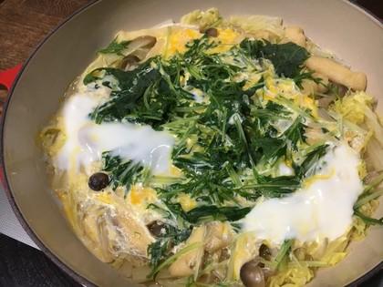 白菜の卵とじ