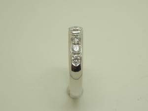 立爪と一文字のダイヤリング After2