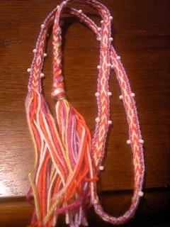 s-ビーズ紐織り