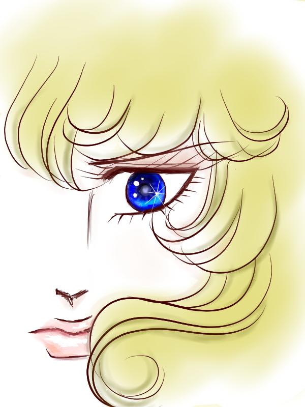 瞳色塗り目修正