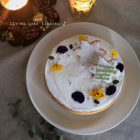 NYチーズバースデーケーキ