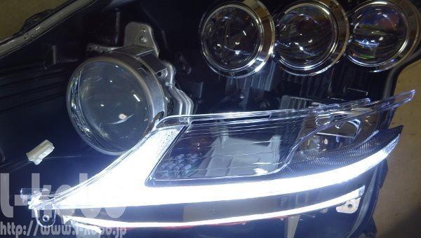 レクサスLS600ヘッドライト