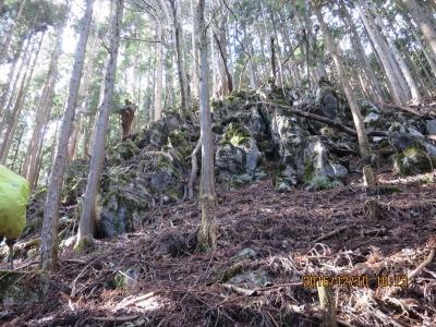 第1の露岩帯