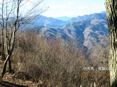 雲取山(中央奥)