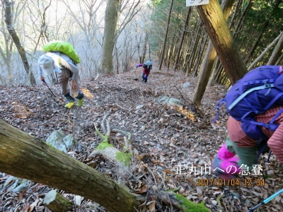 正丸山への急登