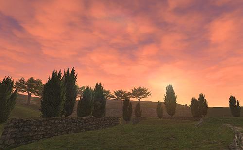 ロランベリー色の夕焼け