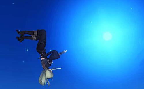 なかなか撮影が難しい男性版「重力操作」