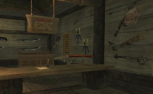 こちらも様々な剣などが売られています