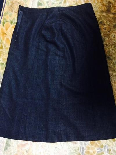 リサイクル戦利品 シルクウール混紡スカート